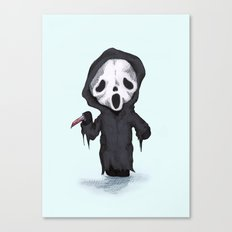 Ghost Face Plush Canvas Print