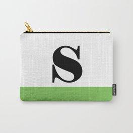 Monogram Letter S (color block) Carry-All Pouch