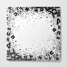 Typography Frame Metal Print