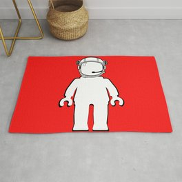 BANKSY STYLE ASTRONAUT MINIFIG by Chillee Wilson Rug
