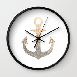 GOLD ANCHOR Wall Clock