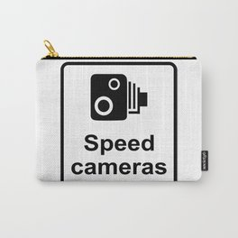 Speed Cameras Sign Carry-All Pouch