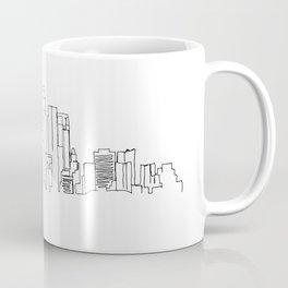 Los Angeles Skyline Drawing Coffee Mug