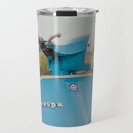 Vintage Blue Scooter Travel Mug