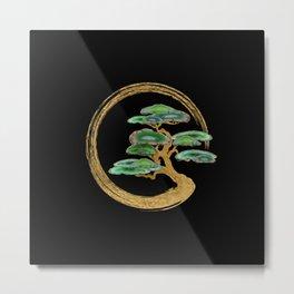 Zen Enzo Geode Bonsai Tree Metal Print