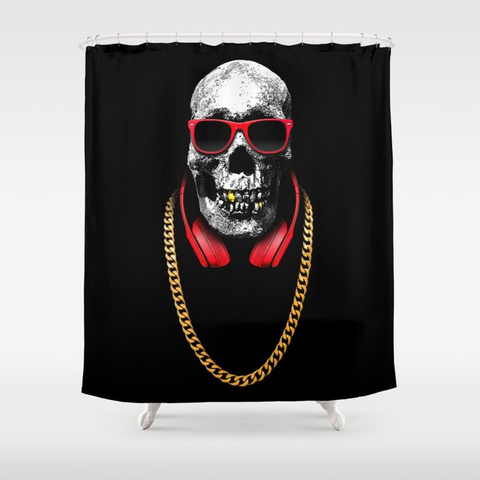 Hip Hop Pirate Shower Curtain