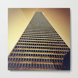 Stand Tall - Pyramid Transamerica San Francisco Metal Print