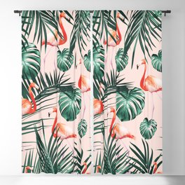 Tropical Flamingo Pattern #2 #tropical #decor #art #society6 Blackout Curtain