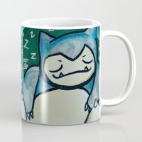 snorlax Mugs featuring 142 - Snorlax by Lyxy