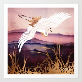 Elegant Flight III Art Print