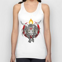 baphomet Tank Tops featuring Baphomet V1 by Savannah Horrocks