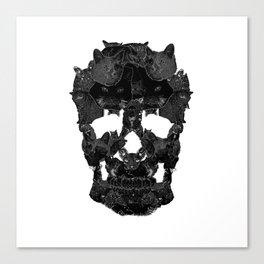 Sketchy Cat skull Canvas Print