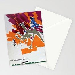 vintage poster Air Afrique Niger Stationery Cards
