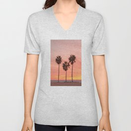 Palm Tree Squad Venice Beach California Unisex V-Neck
