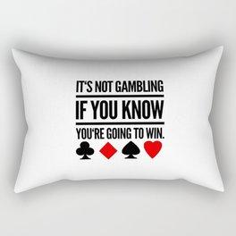 Poker Gambling Las Vegas Casino Rectangular Pillow
