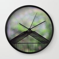 cage Wall Clocks featuring Cage by dora-isa