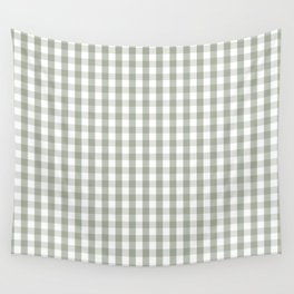 Desert Sage Grey Green and White Gingham Check Wandbehang