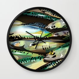 Seafood Market Wall Clock