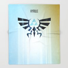 The Legend of Zelda - Hyrule Rising Poster Throw Blanket