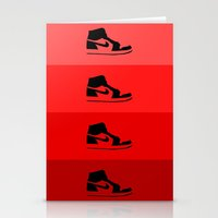 air jordan Stationery Cards featuring JORDAN 1  by ZERO FLUX