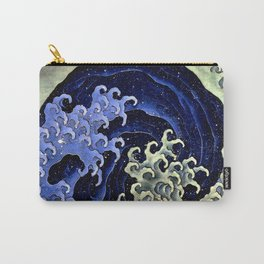 "Hokusai (1760–1849) ""Femenine wave"" Carry-All Pouch"