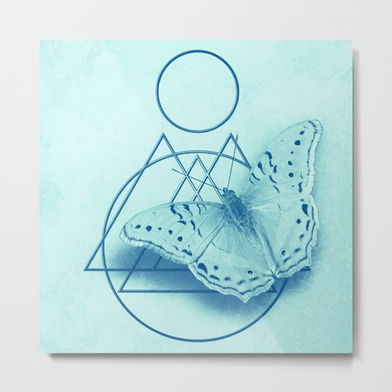 Butterfly in an abstract landscape Metal Print