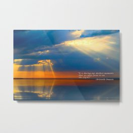 Light Quote Aristotle Onassis Metal Print