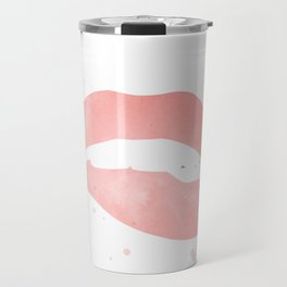 pink biting lip Travel Mug