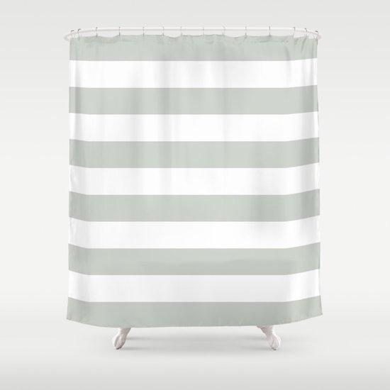 Stripe Bold Sea Salt Shower Curtain