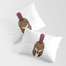 Bloody Spartan Helmet   Warrior Training Pillow Sham