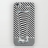 striped iPhone & iPod Skins featuring Striped Water by Steve Purnell