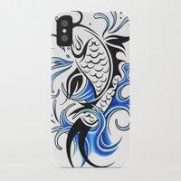 koi fish iPhone & iPod Cases featuring Koi Fish  by JonathanStephenHarris