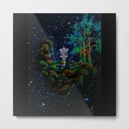Ivy Boulders Discing Metal Print
