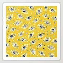 Nazar Eye Amulet pattern #1 Art Print