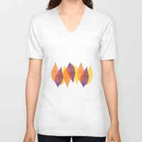 discount V-neck T-shirts featuring Fall Leaves by Katayoon Photography