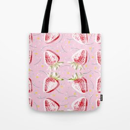 Strawberries Fiesta Pattern Tote Bag