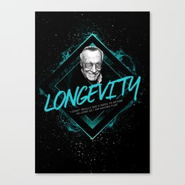 Stan Lee Motivational Art and Quote Canvas Print