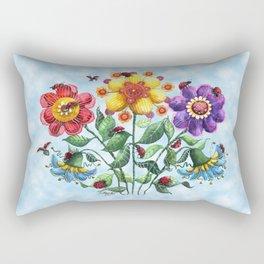 Ladybug Playground on a Summer Day Rectangular Pillow