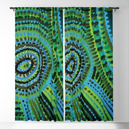 turquoise circus Blackout Curtain