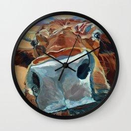The Boy Down the Street Cow Portrait Wall Clock