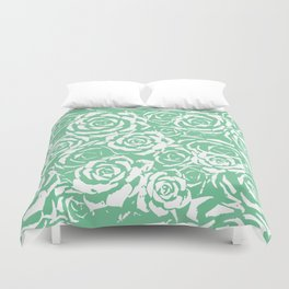 Succulent Stamp - Light Green #524 Duvet Cover