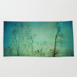 Between Autumn and Winter Beach Towel