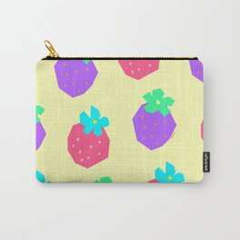 Words for a Lovely Couple from Colorful Strawberries - strawberry illustration fruit pattern Carry-All Pouch