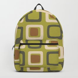 Mid Century Modern Squares Chartreuse Backpack