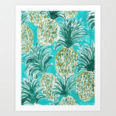 PINEAPPLE O'CLOCK Art Print
