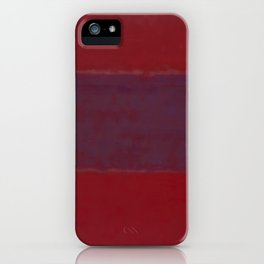 1959 No. 301 Red and Blue Over Red by Mark Rothko HD iPhone Case