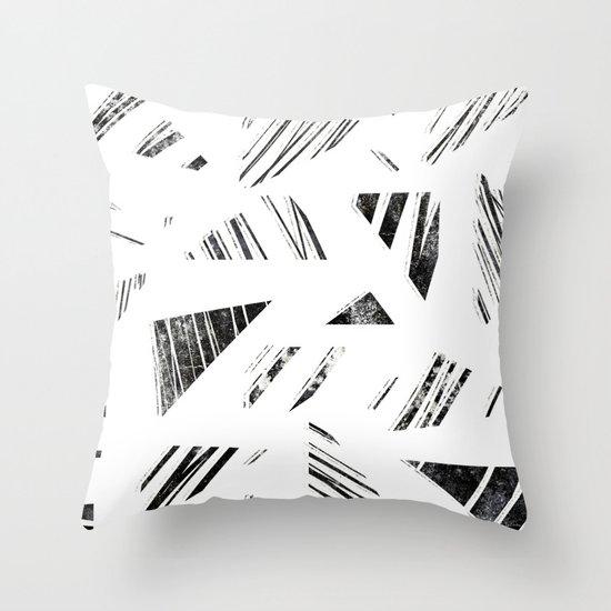 vintage triangle / black Throw Pillow