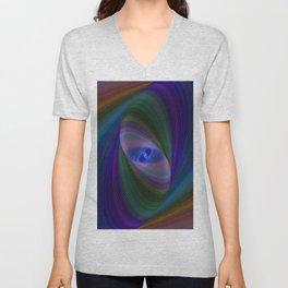 Elliptical fractal Unisex V-Neck