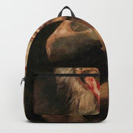 Saturn Devouring His Son Restored Painting Backpack