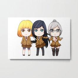 Prison School Girls Metal Print